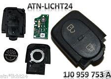 VW Schlüssel Sendeeinheit + Gehäuse 2 Tasten 1J0959753A 1J0 959 753 A 433,92Mhz