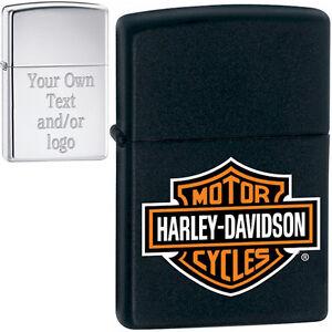 Custom Engraving - Harley Davidson Zippo® Lighter, YOUR TEXT!, Black