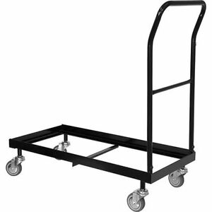 Image is loading Plastic-Folding-Chair-Cart-Storage-Dolly-Storage-Rollin-  sc 1 st  eBay & Plastic Folding Chair Cart Storage Dolly / Storage Rollin Transport ...