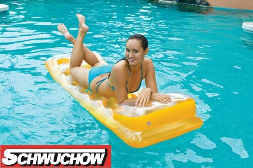 Intex 18 pocket fashion LOUNGE jaune poches matelas gonflable piscine BESTWAY 188x71cm
