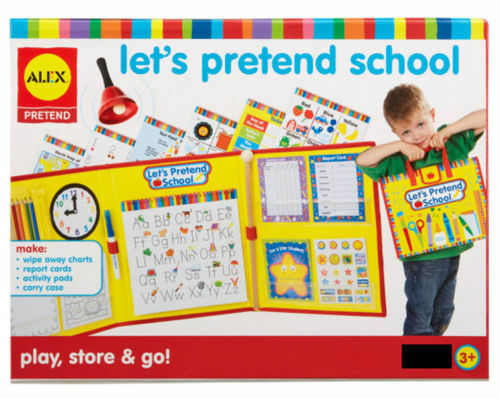 LET'S PRETEND SCHOOL SET - 223 PIECES PLAY STORE & GO BRAND NEW ALEX BRANDS