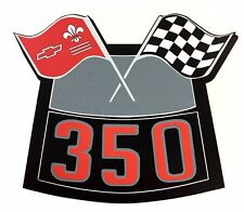 350 Flags Chrome Air Cleaner Decal Chevy Camaro Chevelle Nova Truck Caprice