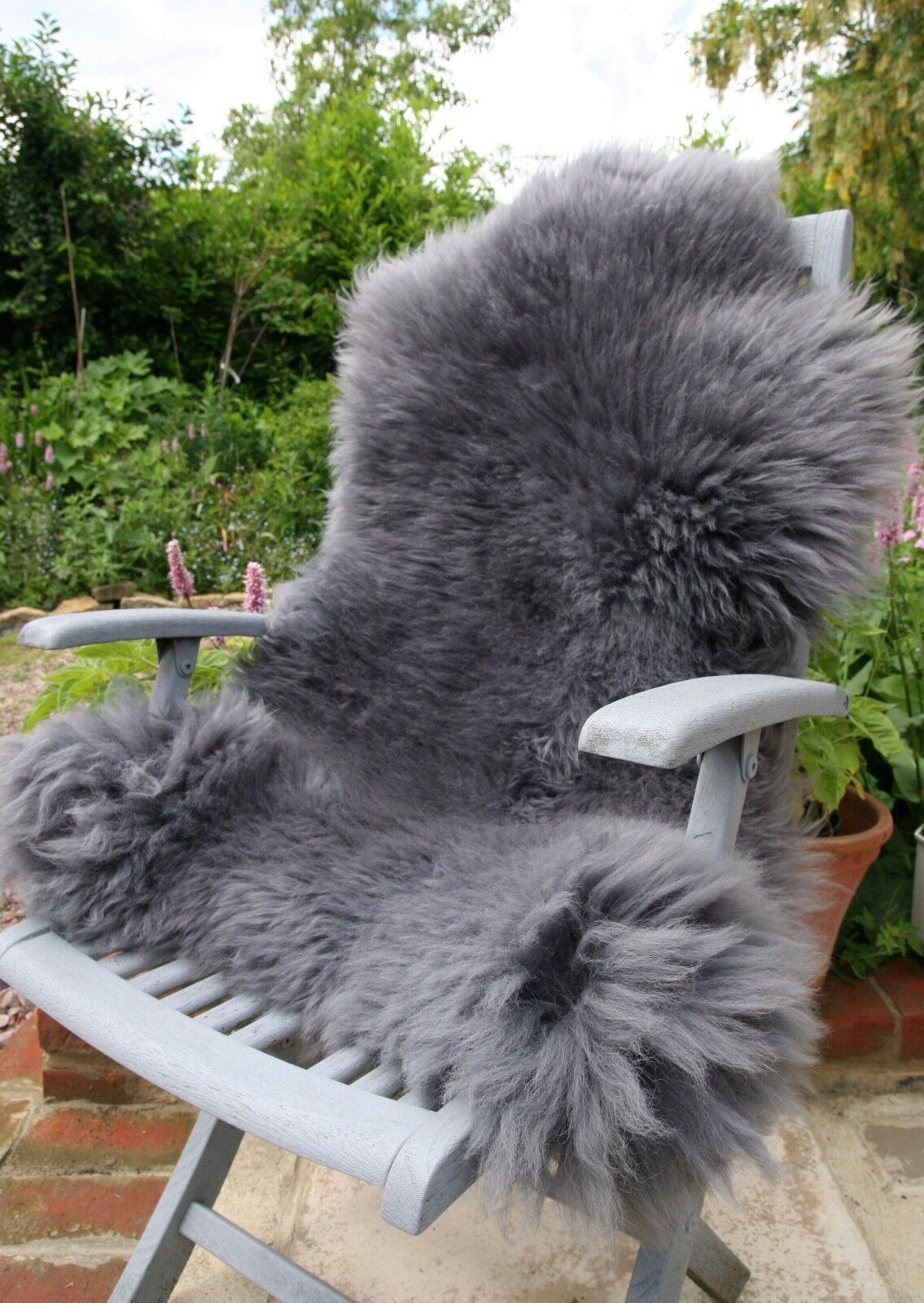 Sheepskin fur rug pelt skin skin skin leather hide 100%Natural fur made from British Sheep f34293