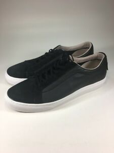 f3d9b84e1a93 Vans Old Skool Brand New Premium Black Leather Low Skate Shoes Mens ...