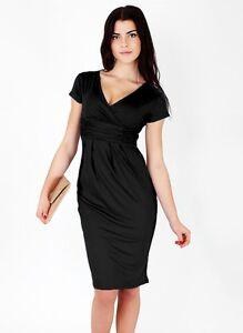size 40 96149 16979 Dettagli su vestito abito tubino donna nero elegante evento party festa 3220