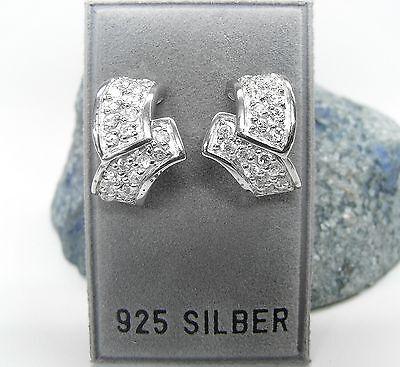 Coscienzioso Nuovo Argento 925 Orecchini A Bottone Con Zirconi Pietre Cristallino Kt Orecchini-mostra Il Titolo Originale Qualità Eccellente