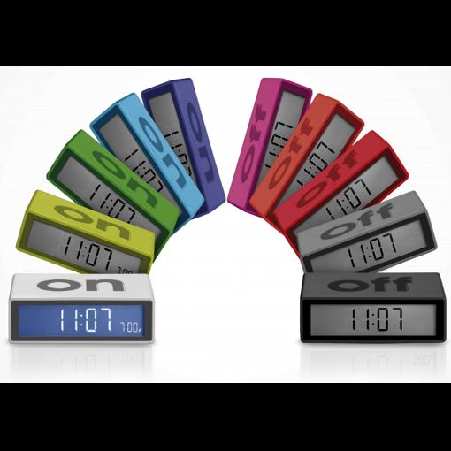 LEXON FLIP TRAVEL Gelb LCD-Wecker verschiedene Farben Farbe