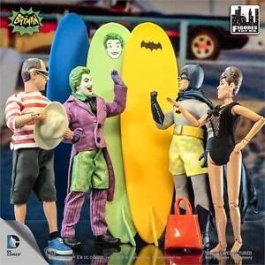 Batman 1966 Tv Surfing Series Ensemble complet de 4;   Polybag figurines 8 pouces