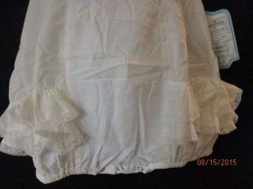 NWT WHITE RUFFLED SUNSUIT ADORABLE BEACH PICTURES TIES ON SHOULDERS REMEMBER NGU
