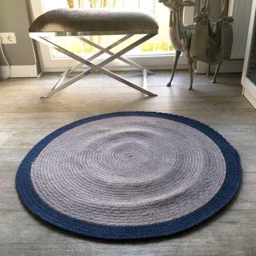 Teppich Bettvorleger Läufer Baumwolle Brücke Rund 90 cm Kinderteppich Türmatte