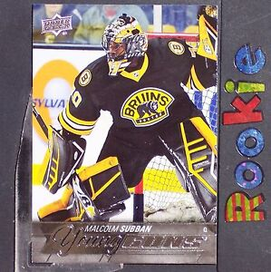 Malcolm Subban Rc 2015 16 Ud Young Guns 211 Boston Bruins Rookie Yg