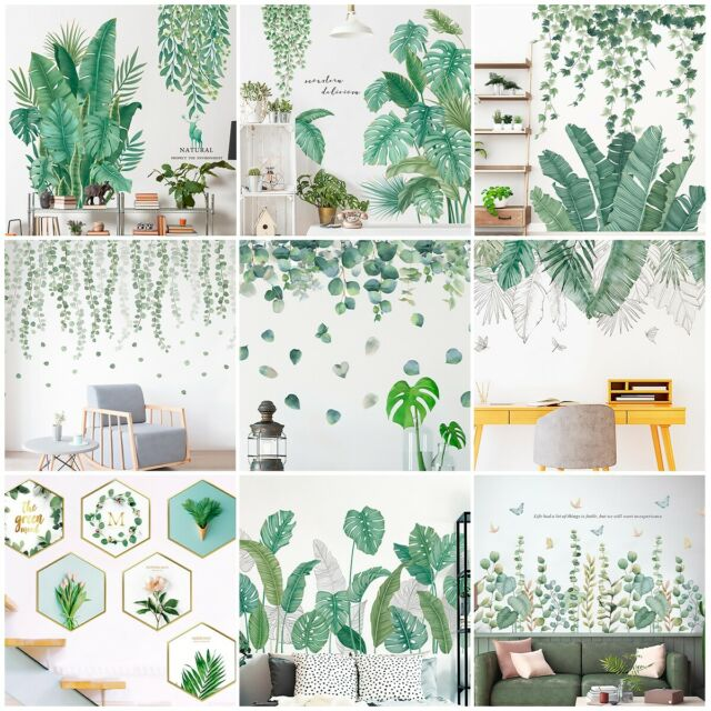 Tropical Palm Monstera Plant Scandi Wall Sticker Decal Mural Vinyl Art For Sale Online Ebay 15 tropical leaves clip royalty free professional designs for business and green monstera deliciosa leaf illustration, swiss cheese plant leaf houseplant plant leaves, leafy flowers you can transform any boring room in just seconds with our wall decals. ebay
