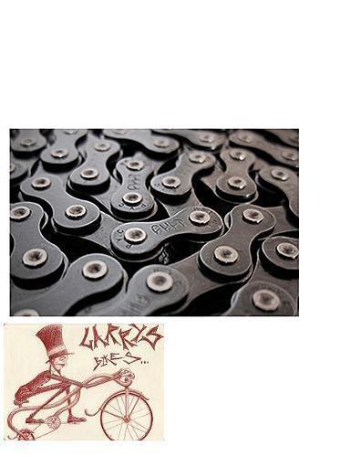 """CULT BIKES 510 BMX-FIXED BIKE 1//2/"""" X 1//8/"""" GOLD BICYCLE CHAIN"""