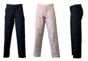 NEW-Men-039-s-Straight-Chino-Pants-Work-Pants-Trousers-100-Cotton-Black-Khaki