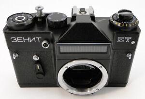 NEU-1987-Zenit-ET-Russische-Sowjetische-UdSSR-SLR-35mm-Kamera-m42-Koerper-Nur