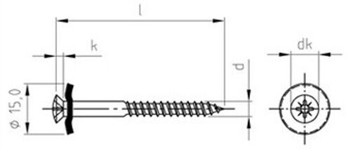 9167 Spenglerschrauben Dichtscheibe 15mm Edelstahl A2 Pozidriv Z diverse Art