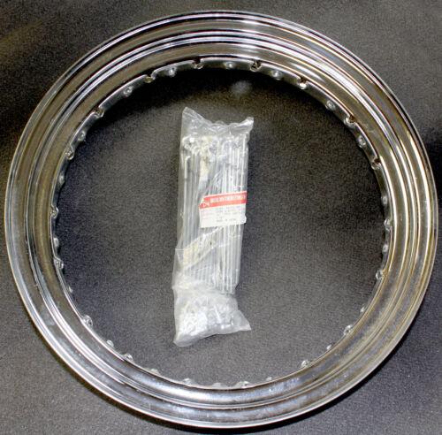 16X3 Harley Davidson Drop Center Chrome Steel Rim Spoke Kit 43032-40B 43085-81