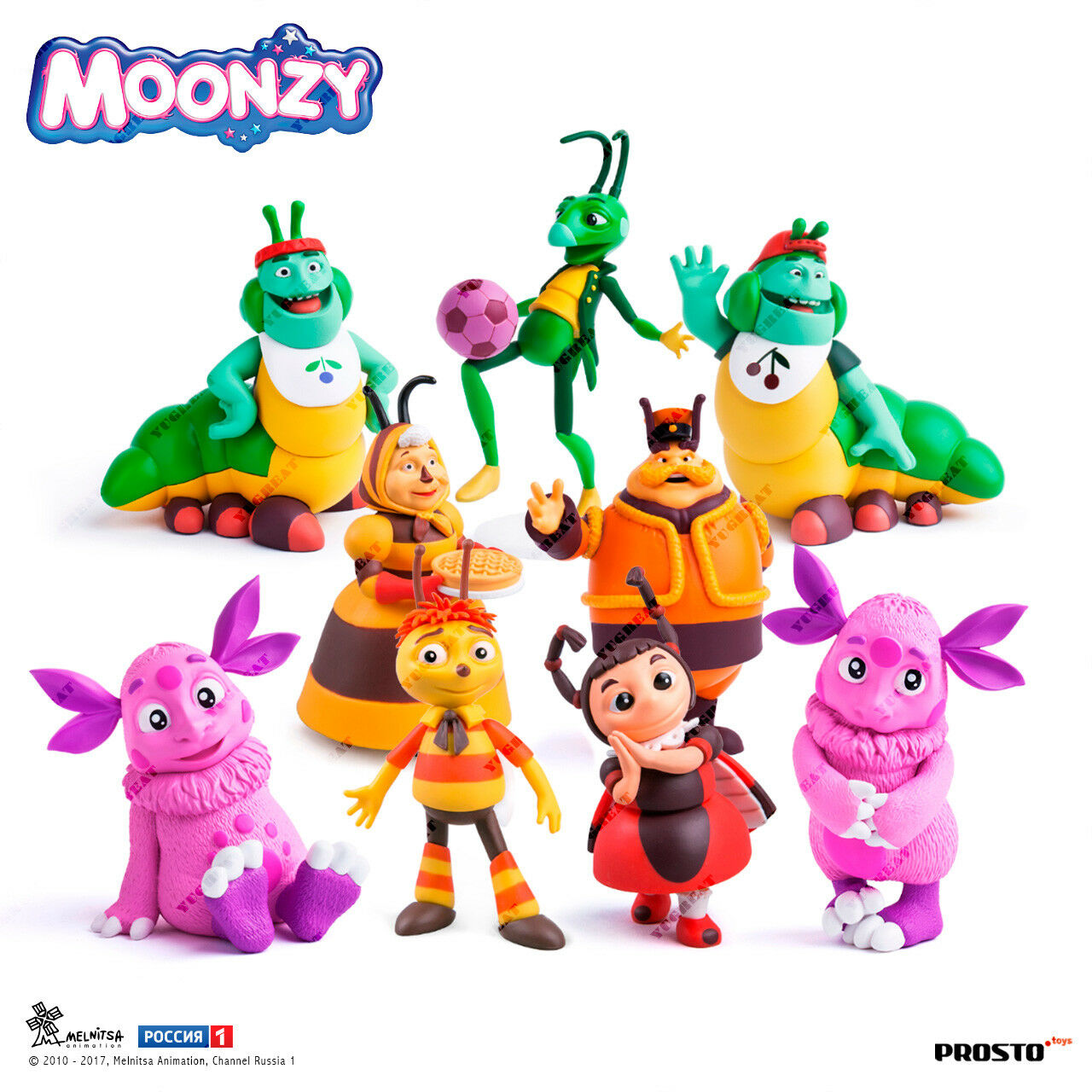 PROSTO Toys  Moonzy , Luntik, Collection Figure, Set (9 pc.), Cartoon Character