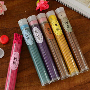 50pc-Natural-Sticks-Incense-Burner-Aroma-Vanilla-Sandalwood-Rose-Air-Freshener