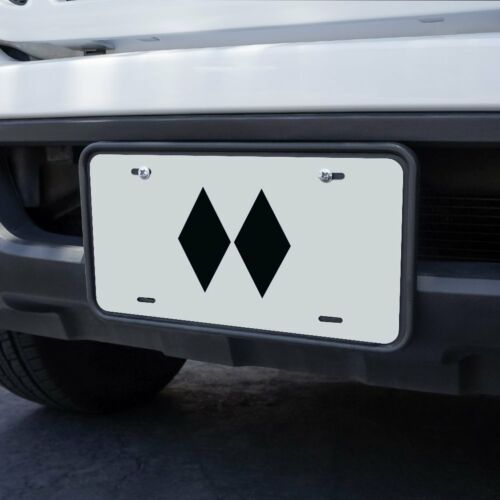 Double Black Diamond Skiing Experts Only Novelty Metal Vanity Tag License Plate