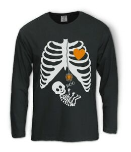Details About Pregnant Skeleton Halloween Costume Long Sleeve T Shirt BOY  GIRL BABY Maternity