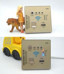 Home-Smart-Wireless-Wall-Socket-Panel-WiFi-Router-Repeater-300Mbps-USB-LAN-3G