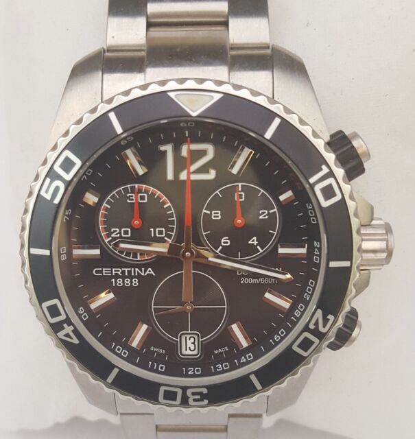 361292b7f Original Certina DS Action Chronograph Quartz Swiss Wristwatch for sale  online | eBay