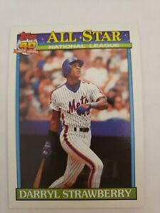 1991 Topps 40 Years of Baseball All Star Darryl Strawberry All Star Card 402