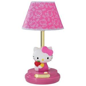 Hello Kitty Pink Decorative Table Lamp Kids Bedroom Bedside Girl Girls New Ebay