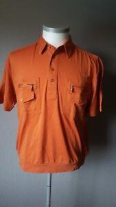 Neues-Herren-Poloshirt-von-AS-Men-Gr-L-Orange