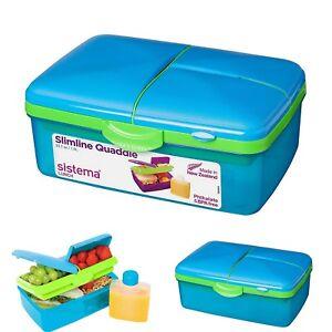 6f6fb1f226 Kids School Lunch Box Blue Sandwich Snack Box BPA Free Lock Plastic ...
