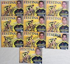 Equipe FESTINA 2001, 10 Cartes avec Autographe manuscrit. Moreau, Casero...