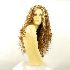 Perruque femme longue blond foncé méché blond clair EVA F27613