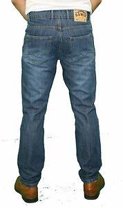 Demina Nuevo Hombre Pernera Recta Vestido Pantalones Vaqueros Modernos Ebay