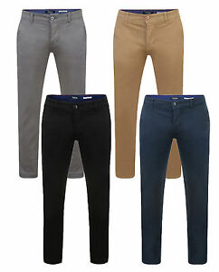 Firetrap-New-Men-039-s-Chinos-Slim-Fit-Trousers-Casual-Cotton-Summer-Chino-Pants