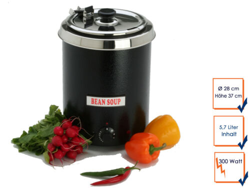 Pro Electric Soup Pot Suppenkessel Hot Counter Boiler 5,7 L