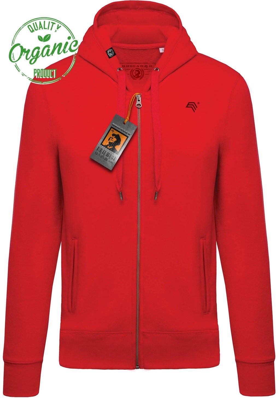 KRB k484 Bio Cotone kapuzensweatjacke Organic Pullover brigadeer hoodie, Rosso