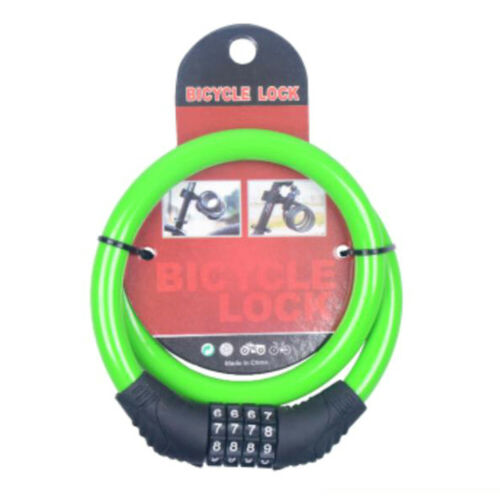 Cute Color Cycling Security 4 Digit Combination Bike Bicycle Cable Chain Lock BE
