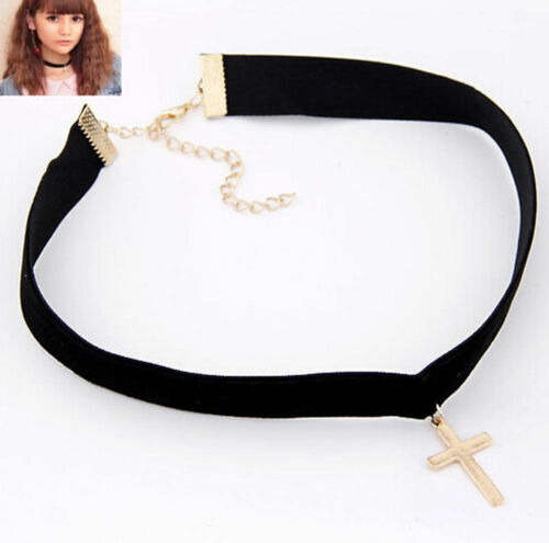 Charm Punk Choker Gothic Black Leather Heart Spike Rivet Buckle Collar Necklace