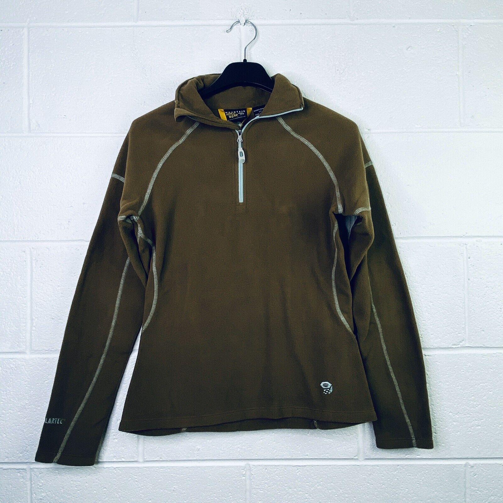 Mountain Hardwear Women's Small MicroChill Zip-T Fleece Jacket Brown NWT I28