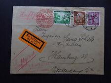 cover Deutschland Luftpost befördert Zweigluftpostamt Berlin Schramberg 1934