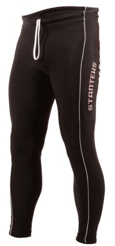 New Mens Cycling Waist Full Length Padded Cycle Leggings Size S M L XL XXL XXXL