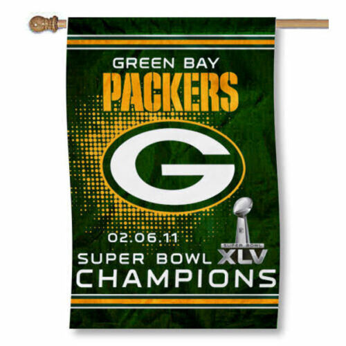 Green Bay Packers Super Bowl XLV Champions Flag and Banner