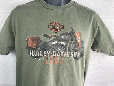 Blue Harley-Davidson Men/'s Icon Motorcycle All-Cotton Short Sleeve Crew T-Shirt