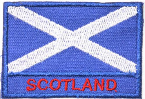 Scotish Scotland Flag Patch Badge Iron Or Sew On 5cm x 7.5cm
