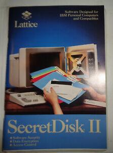 SecretDisk II, by Lattice, Inc. 1988 - Version 1.0,  Unused.