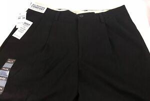Dockers-Men-039-s-Pants-Black-Easy-Khaki-Classic-Fit-Pleated-New-50-Size-34-x-34