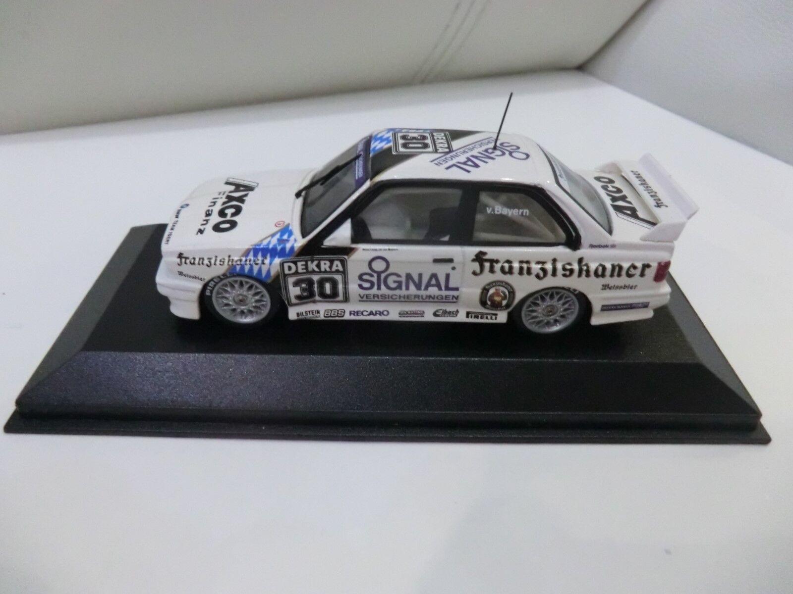 BMW M3 E30 DTM 1991 1 43 Prinz L. von Bayern Team Isert MINISTAMPS wie NEU
