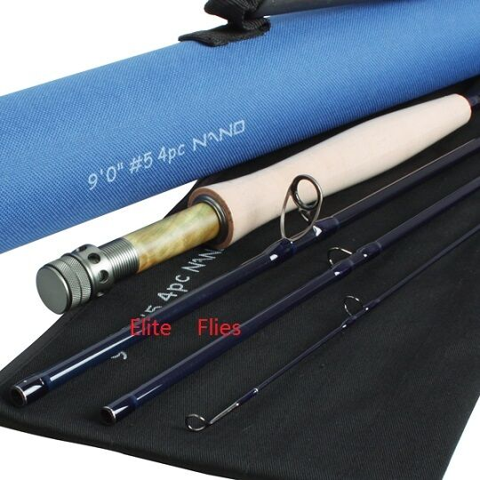 Elite NANO fly rod 8ft 3piece high modulus carbon fly fishing salmon trout