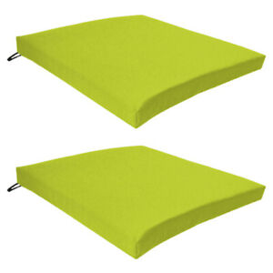 Lime 6 Pack Seat Chair Cushion Outdoor Garden Tie On Waterproof Pad Zip Cover